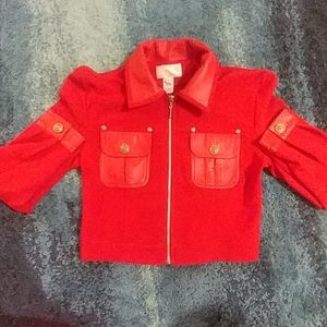 CACH'E Jacket what's a genuine leather